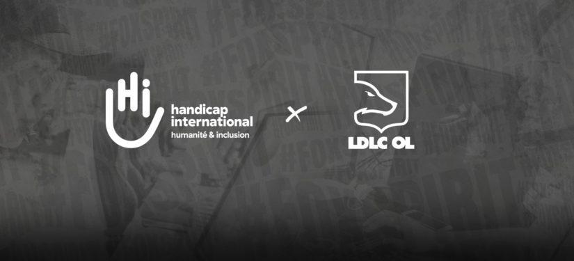 LDLC OL s'associe à Handicap International
